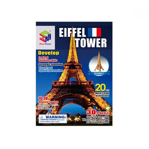 Փազլ B668-2 Эйфелева башня 3D